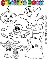 Coloring book Halloween topic 9
