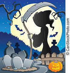 Grim reaper theme image 2 - vector illustration