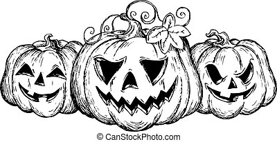 Halloween theme drawing 2 - vector illustration.