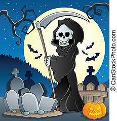 Grim reaper theme image 5 - vector illustration.