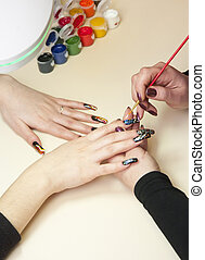 making manicure
