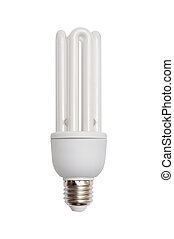 Energy saving bulb. Isolated image