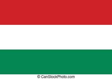 Hungary flag - Vector national Hungary flag