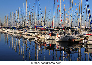 Travel Photos of Israel - Herzliya - Yacht in Herzliya...
