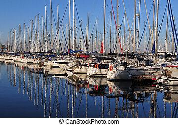 Travel Photos of Israel - Herzliya - Yacht in Herzliya...