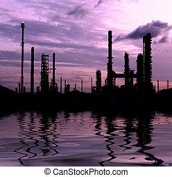 pianta, prodotto petrochimico, silhouette, scenico,...
