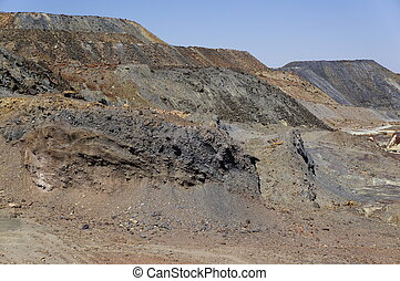 Landscape area mining, Spain - Landscape area mining,...