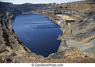 Minas de Tharsis, Huelva, Spain - View copper open pit in...