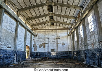 Tharsis Mining District - Abandoned mine workshops in Spain,...