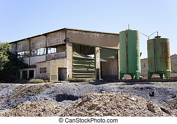 Mining industry - Abandoned mines of Tharsis, Huelva, Spain
