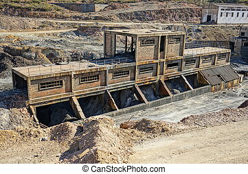 The industrial history of Spain - Area mining. Abandoned...