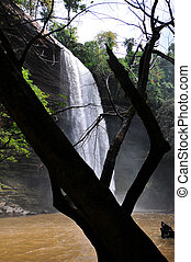 Boti Falls is a 30m high waterfall within the Boti Forest...