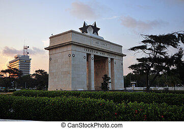 Independence Arch - The Independence Square of Accra, Ghana,...