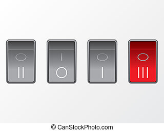 Abstract 2013 background ilustrated by power buttons