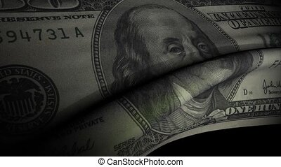 Dollar note flag - Dollar bank note waving flag animation.