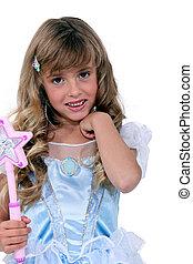 Little girl in a fairy dress