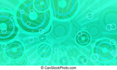 Teal Retro Shapes Looping Animated Background