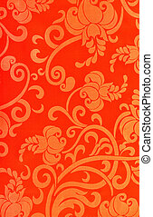 abstract pattern on linen fabric
