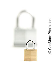 Pair of Padlocks isolated on a white background.
