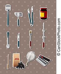 bbq tools stickers
