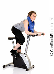 Fitness exercise, attractive teen