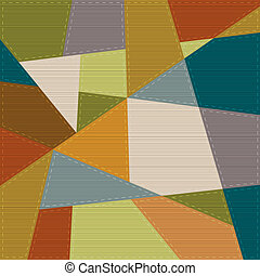 Retro geometric background in patchwork style