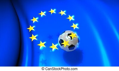 Europa football - Graphic animation, Europa football. alpha...