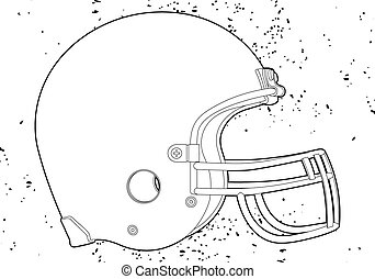 football helmet - American football helmet (outline vector...