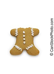Headless Gingerbread Man - A gingerbread man cookie with his...