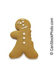 Ouch - A concerned looking gingerbread man having just lost...
