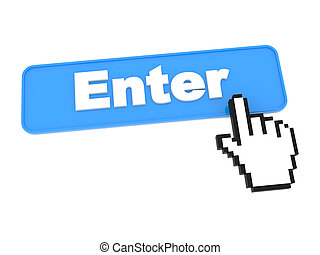 Enter Web Button. Isolated on White Background.