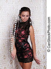 Photo of beautiful girl is in sexy style, glamur