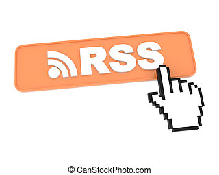 Hand-Shaped Mouse Cursor Press RSS Button.