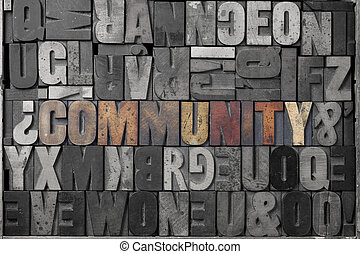 Community - The word community written out in old...