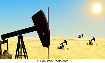Oil wells in the desert