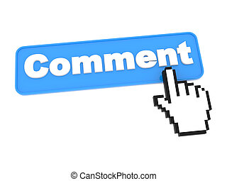 Comment Button Isolated on White - Comment Button - Social...