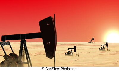 Oil wells in the desert