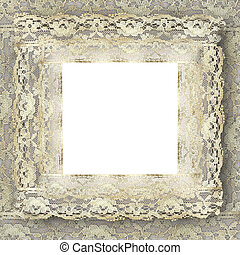 vintage lace frame with copy space