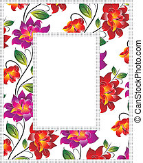 Vector floral photo frame