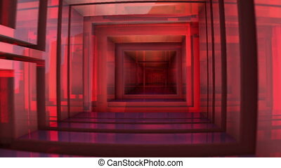 red mirroring tunnel n1179C