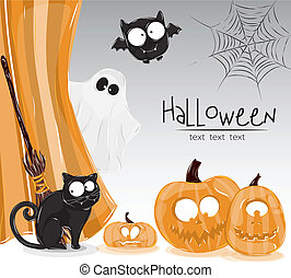 halloween illustration - illustration of halloween pumpkin...