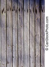 Wooden plank wall background. Rural architecture. - Wooden...