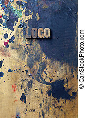 Logo - The word Logo written in antique letterpress printing...