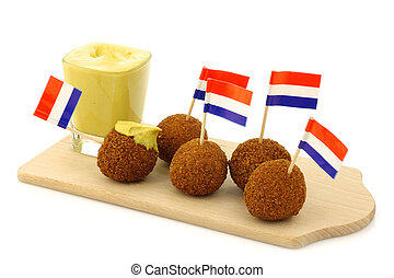 "Dutch snack called ""bitterballen"" - A real traditional Dutch..."