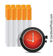 Time to stop smoking concept