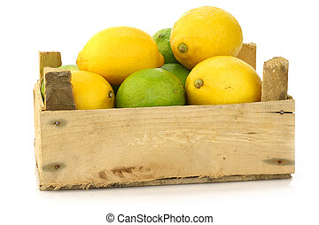 fresh lemons and lime fruit