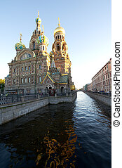 Russia Saint Petersburg Church of Our Saviour on Spilled Blood