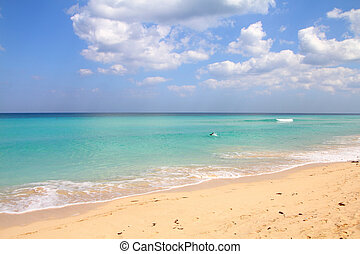 Beach in Cuba - Cuba - Caribbean beach Playa Megano in...