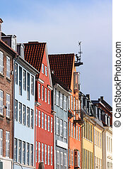 Nyhavn - Copenhagen, Denmark - colorful buildings of Nyhavn...