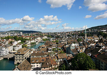 Zurich, Switzerland - cityscape of beautiful old town